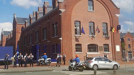 Polisstationen där attacken ägde rum.