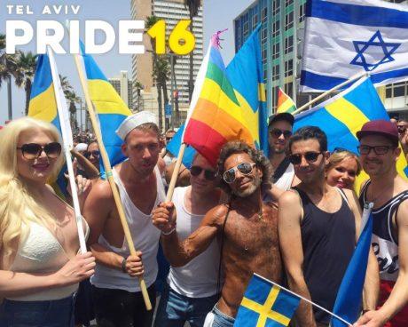 Jean Pierre Barda syns flitigt både på pride i Tel Aviv och Stockholm.