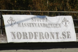 Banderollaktion i Luleå