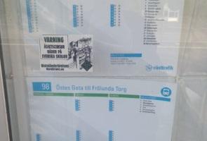 Klistermärkesuppsättning i Göteborg