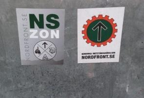 Uppsättning av klistermärken i Katrineholm