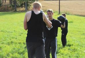 Månadsmöte och träning i Näste 4