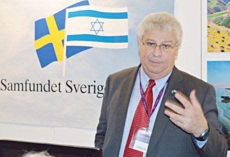Israels ambassadör Isaac Bachmann. Foto: Nordfront.se
