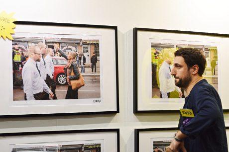 Jonathan Leman vid Expos monter. Foto: Nordfront.se