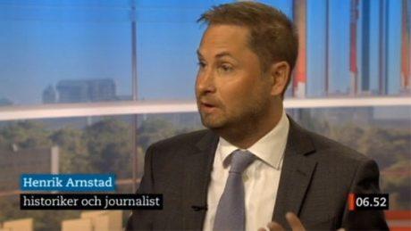 """Henrik Arnstad presenteras ofta som """"historiker"""" i media."""