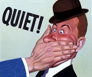 Ska man använda den grundläggande rättigheten yttrandefrihet är det bäst att man är tyst.