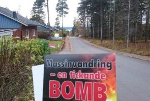Flygbladsutdelning i Östersund