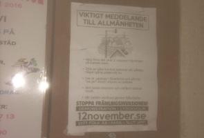 Flygblads- och klistermärkesuppsättning i Örebro kommun