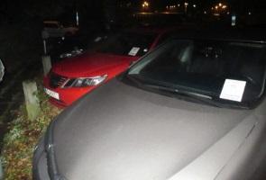 Bilar lappade i Eskilstuna