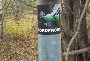 Klistermärken uppsatta söder om Sundsvall