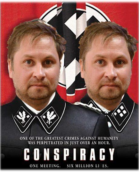 Konspirationsteoretikern Henrik Arnstad har svårt att skilja på verklighet och film.