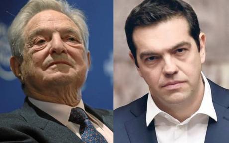 George Soros och Alex Tsipras