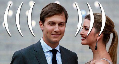 Jared Kushner med sin hustru Ivanka Trump.