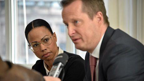 Kultur- och demokratiminister Alice Bah Kunke och inrikesminister Anders Ygeman.