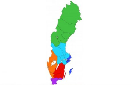 Regeringens urspungliga plan på omstuvning till så kallade storregioner.