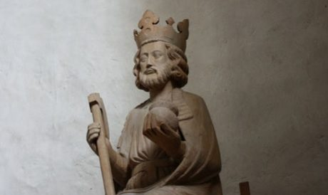 Olof den helige var ett populärt helgon i hela Norden. Här i form av staty från Väte kyrka på Gotland.