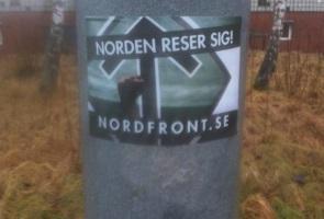 Klistermärken uppsatta i Trollhättans- och Vänersborgs kommun