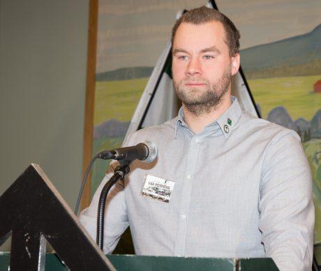 Nästeschef Pär Sjögren berättade bland annat om det framgångsrika parlamentariska arbete som skett i näste 5 under året.