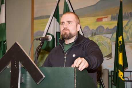 Hakån Forwald berättade om Motståndsrörelsens framgångar i Norge under förra året.