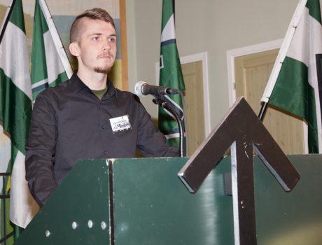 Nordfronts kampredaktör Sebastian Elofsson talade om den nya kampredaktionens potential.