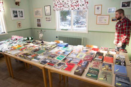 Nordfront förlag representerades av aktivisten Jimmy Björk som såg till att besökarna kunde uppdatera sina bokhyllor med bra litteratur.