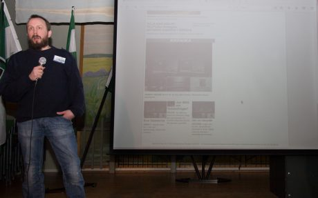 Robert Eklund pratade om Nordfronts potential ur ett IT-perspektiv.