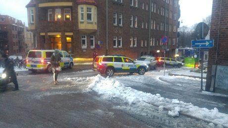Göteborgspolisens intresse för den nationalsocialistiska aktivismen var påtaglig under dagen.