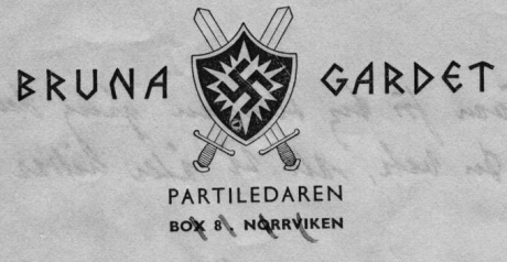 """Bruna Gardet """"terrororganisationen"""" med svenska judemord som främsta uppgift."""