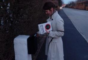 Flygblad utdelade i Ystad