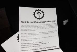 Demonstrationsflygblad utdelade i Sotenäs kommun