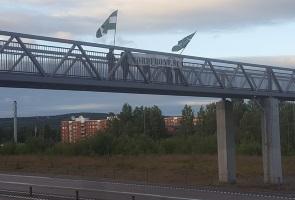 Banderollaktion i Sundsvall