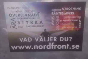 Propagandaspridning i Nässjö kommun