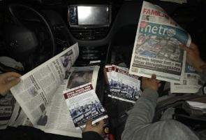 Metrotidningar lappade i Södertälje