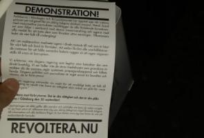 Fortsatt uppmaning till demonstrationsdeltagande i Strömstad