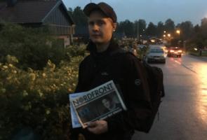 Flygbladsspridning och banderoller i Forsheda, Värnamo