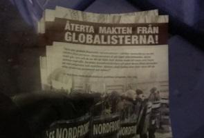 Stora mängder flygblad utdelade i Kiruna kommun