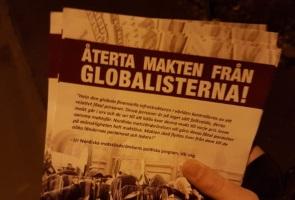 Informationskampanjen om globalisterna fortsätter i Vetlanda
