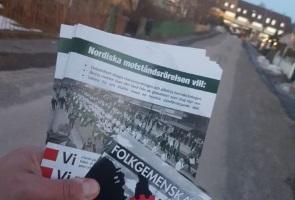Fortsatt propagandaspridning i Falun