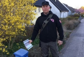 Flygbladsutdelning i Lunds kommun