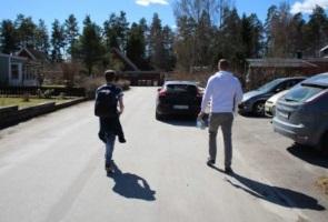 Tidningsutdelning i Västerås