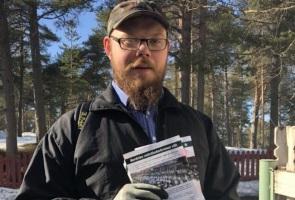 Flygblad utdelade i Luleå