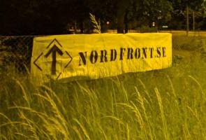 Banderoller uppsatt i Trelleborg