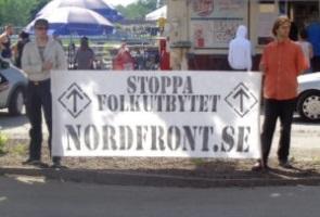 Mariestad välkomnade Nordiska motståndsrörelsen