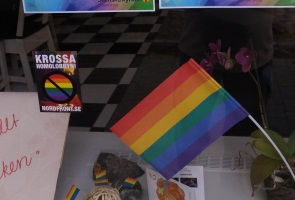 Propaganda mot Norrköpings Pride-festival