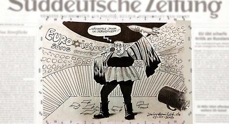 Forintelse karikatyrer i dansk tidning