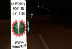 Affisch- och sprayaktion i Lund