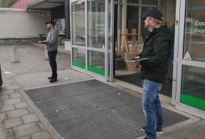 Valtidningar utdelade i Ludvika stad