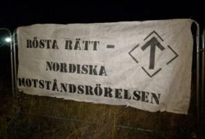 Banderollaktion i Trelleborg