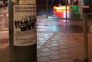 Demonstrationsaffischering i Söderort, Stockholm