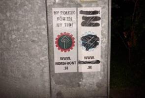 Affischering avslutade propagandaaktionen i Trelleborg